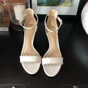 Cream Coach low heel sandal size 6